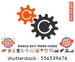 orange and gray cogs rotation... | Shutterstock .eps vector #556539676