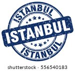istanbul. stamp. blue round... | Shutterstock .eps vector #556540183