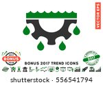 green and gray water gear drops ... | Shutterstock .eps vector #556541794