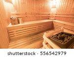 background of empty sauna room | Shutterstock . vector #556542979
