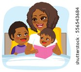 young african american mother... | Shutterstock .eps vector #556543684