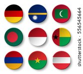 set of world flags round badges ... | Shutterstock .eps vector #556545664