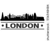 london skyline silhouette    Shutterstock .eps vector #556548484