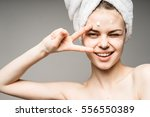 close up of beautiful young... | Shutterstock . vector #556550389