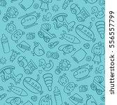 toys seamless pattern. vector... | Shutterstock .eps vector #556557799