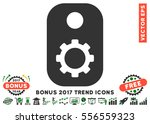 green and gray gear tag... | Shutterstock .eps vector #556559323