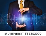 businessman with dna concept in ... | Shutterstock . vector #556563070