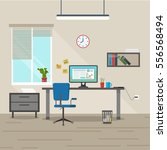 vector image. interior.... | Shutterstock .eps vector #556568494