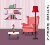 vector image. room interior.... | Shutterstock .eps vector #556568758