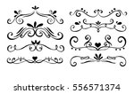 set of hand drawn text dividers ... | Shutterstock .eps vector #556571374