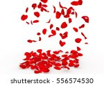 Stock photo rose petals fall to the floor isolated background 556574530