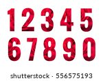 numbers set isolated on white... | Shutterstock . vector #556575193
