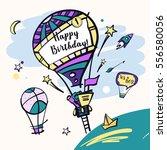 vector template baby happy... | Shutterstock .eps vector #556580056