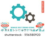 grey and cyan gears pictogram... | Shutterstock .eps vector #556580920