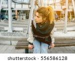 girlfriend waiting boyfriend on ...   Shutterstock . vector #556586128