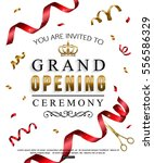 grand opening card design with... | Shutterstock .eps vector #556586329