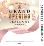 grand opening card design with... | Shutterstock .eps vector #556586350