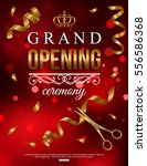 grand opening background with... | Shutterstock .eps vector #556586368