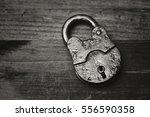 Vintage Padlock Close Up On A...