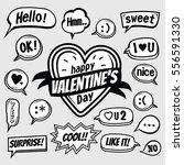 cute speech bubble valentines...   Shutterstock .eps vector #556591330
