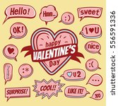 cute happy valentines day...   Shutterstock .eps vector #556591336