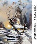 Landscape Winter  Oil Paintings