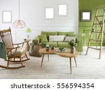 natural wood furniture green... | Shutterstock . vector #556594354