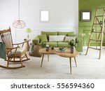 natural wood furniture green... | Shutterstock . vector #556594360