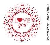 vector decorations of hearts ... | Shutterstock .eps vector #556595860