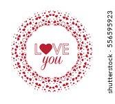vector decoration heart ... | Shutterstock .eps vector #556595923