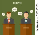 elections and debate concept... | Shutterstock . vector #556595953