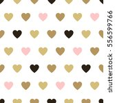 seamless background hearts. | Shutterstock . vector #556599766