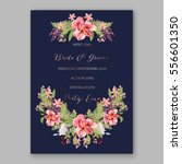 alstroemeria wedding invitation ... | Shutterstock .eps vector #556601350