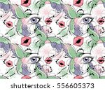 seamless floral pattern with...   Shutterstock .eps vector #556605373