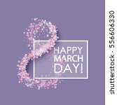 women day background with frame ... | Shutterstock .eps vector #556606330