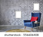 beautiful grey wall with... | Shutterstock . vector #556606408
