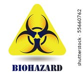 modern biohazard icon sign... | Shutterstock .eps vector #55660762