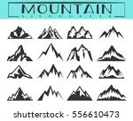 rocks and mountains silhouettes ... | Shutterstock .eps vector #556610473