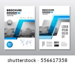 business brochure design.... | Shutterstock .eps vector #556617358