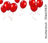 Red Festive Balloons Background ...