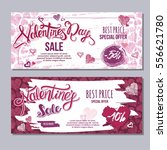 happy valentine day flyer... | Shutterstock .eps vector #556621780