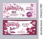 happy valentine day flyer... | Shutterstock .eps vector #556621780