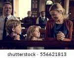 church people believe faith... | Shutterstock . vector #556621813