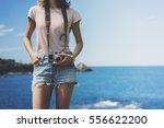 tourist traveler photographer... | Shutterstock . vector #556622200