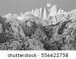 black and white supermoon image ... | Shutterstock . vector #556622758