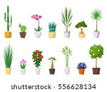 big set of decorative house... | Shutterstock .eps vector #556628134