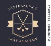 golf academy logo  emblem with... | Shutterstock .eps vector #556630528