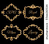 set collection of ornamental... | Shutterstock .eps vector #556630534