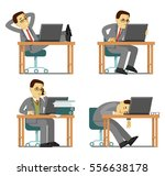 businessman office internet... | Shutterstock .eps vector #556638178