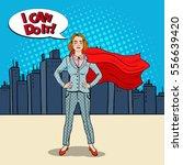 pop art confident business... | Shutterstock .eps vector #556639420